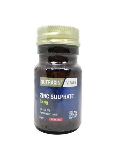Nutraxin Nutraxin Zinc Sulphate 15mg 100 Tablet Renksiz